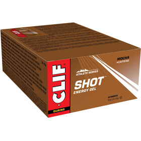 CLIF Bar Shot Gel Box 24 x 34g Mocha with Caffeine